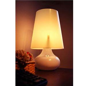 テーブルランプ(照明器具/卓上ライト) モノトーン 高級アクリル製 レトロ/北欧風 〔リビング照明/寝室照明/ダイニング照明〕【電球別売】 - 拡大画像