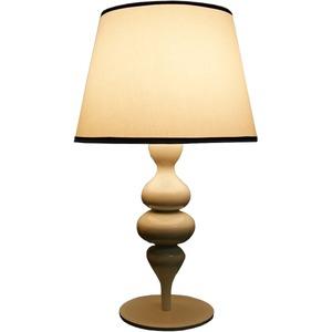 テーブルランプ(照明器具/卓上ライト) 陶器/高級布製 レトロ/ヨーロピアン調 〔リビング照明/寝室照明/ダイニング照明〕【電球別売】