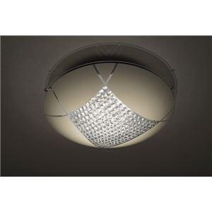 シーリングライト(照明器具) LEDタイプ/18W 自然光色 ガラス使用 円形 〔リビング照明/ダイニング照明〕【電球付き】