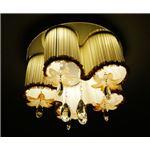 シーリングライト(照明器具) LEDタイプ/3500ルーメン 自然光色 花柄モチーフ 〔リビング照明/ダイニング照明〕【電球付き】