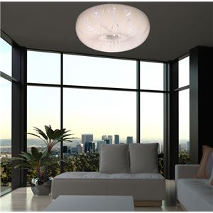 シーリングライト(照明器具) LEDタイプ/4000ルーメン 自然光色 円形 〔リビング照明/ダイニング照明/和室照明〕【電球付き】