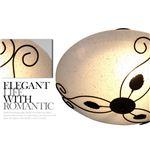 シーリングライト(照明器具) 金属/ガラス製 半円形 ヨーロッパ調 〔リビング照明/ダイニング照明〕