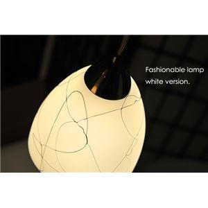 ペンダントライト(吊り下げ型照明器具) ガラス製 ホワイト(白) 〔リビング照明/ダイニング照明/キッチン照明〕【電球別売】