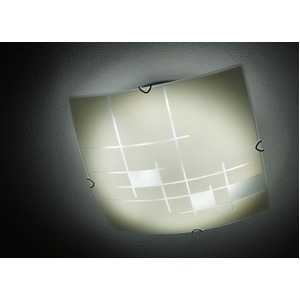 シーリングライト(照明器具) リモコン付き 調光調温 リモコン三段調節 金属/ガラス製 〔リビング照明/ダイニング照明〕