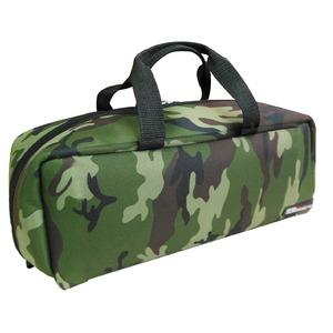 (業務用3セット)DBLTACT トレジャーボックス(作業バッグ/手提げ鞄) Mサイズ 自立型/軽量 DTQ-M-CA 迷彩 〔収納用具〕 - 拡大画像