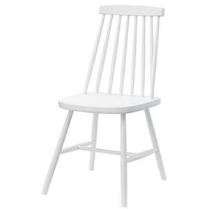 北欧風 ダイニングチェア/食卓椅子 2脚セット 【ホワイト】 幅41×奥行51×高さ82cm 木製 〔キッチン 台所 リビング 店舗〕