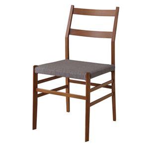 ダイニングチェア/食卓椅子 2脚セット 【幅51.5cm】 木製 ウレタン塗装 ウィービングベルト 〔キッチン 台所 店舗〕