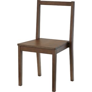 シンプル スタッキングチェア/椅子 4脚セット 【ブラウン】 幅41cm 木製 ウレタン塗装 〔リビング ダイニング 店舗〕 - 拡大画像