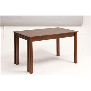 伸長式ダイニングテーブル/エクステンションテーブル 【幅120〜200cm】 レトロ調   木製 インナーキャスター仕様 - 拡大画像