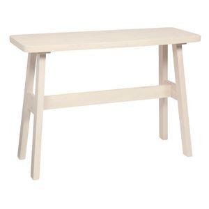 カウンターテーブル/ハイテーブル 【長方形 幅120cm】 ホワイト   木製 高さ85cm ブラッシング加工 - 拡大画像