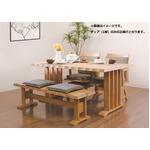 【単品】和風ダイニングチェア/360度回転式椅子   ナチュラル 木製 ブラッシング加工 クッション付き
