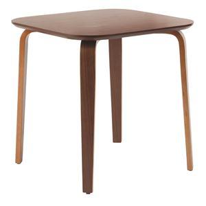 ダイニングテーブル/リビングテーブル 【正方形 幅70.5cm】 木製/ウォールナット材突板   ミディアムブラウン