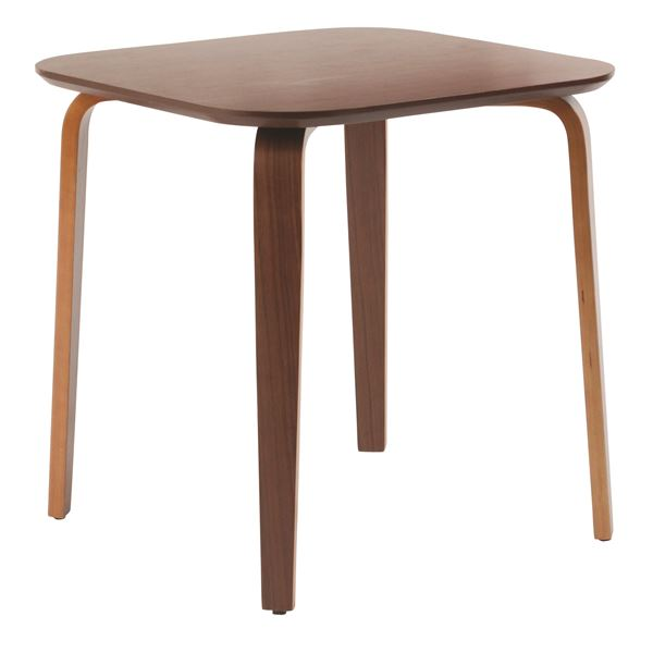 カフェスタイルをご自宅で楽しめる「ダイニングテーブル/リビングテーブル 【正方形 幅70.5cm】 木製/ウォールナット材突板 ミディアムブラウン」