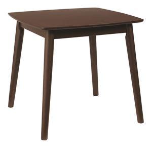ダイニングテーブル/リビングテーブル 【正方形】 木製/アッシュ材突板 幅75cm 木目調 北欧風   ブラウン