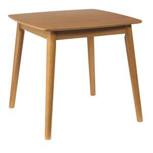 ダイニングテーブル/リビングテーブル 【正方形】 木製/アッシュ材突板 幅75cm 木目調 北欧風 『シープ』 ナチュラル - 拡大画像