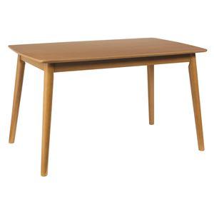 ダイニングテーブル/リビングテーブル 【長方形】 木製/アッシュ材突板 幅120cm 木目調 北欧風   ナチュラル