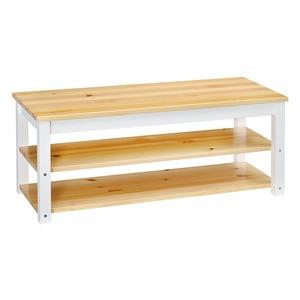 シンプル テレビ台/テレビボード 【ナチュラル】 幅100cm 木製 棚板2枚 脚付き 〔リビング ダイニング〕
