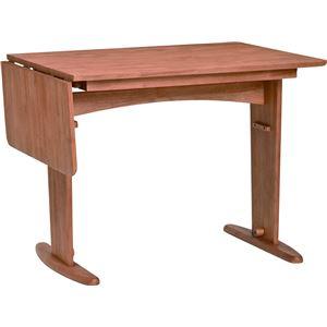 伸長式ダイニングテーブル 120cm幅 ラバーウッド材 4人掛け用 アルダーナチュラル 【組立品】 - 拡大画像