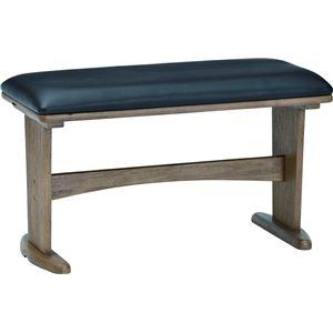 ダイニングベンチ ベンチ PVC 木製 ミディアムブラウン 【組立品】 - 拡大画像