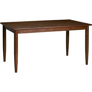 ダイニングテーブル 135cm幅 ラバーウッド材 4人掛け用 ブラウン 【組立品】 - 拡大画像