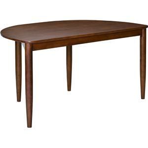 ダイニングテーブル アーチ 135cm幅 ラバーウッド材 4人掛け用 ブラウン 【組立品】 - 拡大画像