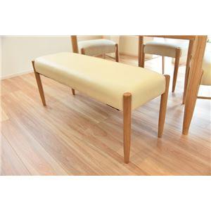 ダイニングベンチ ベンチ PVC 木製 ナチュラル 【組立品】 - 拡大画像