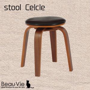 北欧風 回転スツール/丸椅子 【2脚セット】 幅36cm×奥行36cm×高さ45.5cm 合成皮革地 ウレタン 合板 置台対応 - 拡大画像