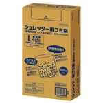 (まとめ)コクヨ シュレッダー用ゴミ袋 静電気抑制 エア抜き加工 透明 Lサイズ KPS-PFS100 1パック(100枚)【×3セット】