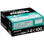 (まとめ)ソニー アルカリ乾電池 STAMINA単4形 業務用パック LR03SG100XD 1箱(100本)【×3セット】