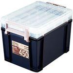 (まとめ)アステージ I.BEAMシステムコンテナ450 ブルー SYS-450 1個【×3セット】