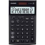 (まとめ)カシオ 本格実務電卓 12桁ジャストタイプ ブラック JS-20WK-MBK-N 1台【×3セット】