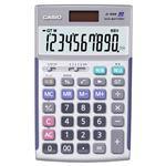 (まとめ)カシオ CASIO 本格実務電卓 10桁 ジャストサイズ JS-10WK 1台【×3セット】
