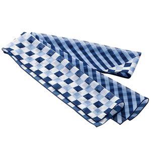 (まとめ) チクマ スカーフ ブルー NF168-1 1枚  【×5セット】 - 拡大画像