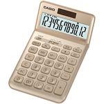 (まとめ) カシオ デザイン電卓 12桁ジャストタイプ ゴールド JF-S200-GD-N 1台 【×5セット】