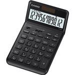 (まとめ) カシオ デザイン電卓 12桁ジャストタイプ ブラック JF-S200-BK-N 1台 【×5セット】