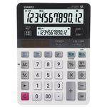 (まとめ) カシオ CASIO ツイン液晶電卓 ミエ2くん 12桁+12桁 デスクタイプ DV-220W-N 1台  【×5セット】
