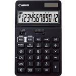 (まとめ) キヤノン ビジネス電卓KS-1220TU-BK フリーアングルチルト&大画面液晶 12桁 卓上タイプ ブラック 0932C0011台 【×5セット】