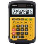 (まとめ) カシオ 防水・防塵電卓 12桁ミニジャストタイプ WM-320MT-N 1台 【×5セット】
