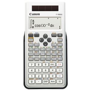 (まとめ) キヤノン Canon 関数電卓 F-789SG-SL SOB 20桁 教科書ビュー 445関数 19メモリ ホワイト 6952B001 1台  【×5セット】 - 拡大画像