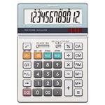 (まとめ) シャープ SHARP 実務電卓 12桁 セミデスクタイプ EL-S752K-X 1台  【×5セット】
