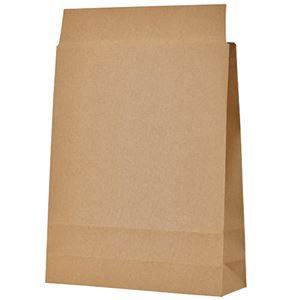 (まとめ) TANOSEE 宅配袋 小 茶封かんテープ付 1パック(100枚)  【×5セット】