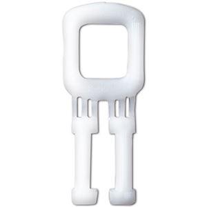 (まとめ) TANOSEE PPバンドストッパー 15mm 白 1パック(1000個)  【×5セット】