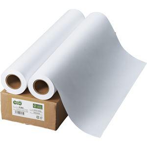 (まとめ) TANOSEE インクジェット用普通紙 A1ロール 594mm×50m 1箱(2本)  【×5セット】 - 拡大画像