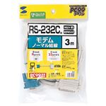 (まとめ) サンワサプライ RS-232Cケーブルモデム・TA用 (D-Sub9pin)メス-(25pin)オス 3.0m KR-MD3 1本 【×5セット】