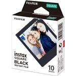 (まとめ) 富士フイルム インスタントカラーフィルムinstax SQUARE ブラック 1パック(10枚) 【×10セット】