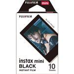 (まとめ) 富士フイルム チェキ用フィルムinstax mini ブラック 1パック(10枚) 【×10セット】
