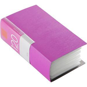 (まとめ) バッファローCD&DVDファイルケース ブックタイプ 120枚収納 ピンク BSCD01F120PK 1個 【×10セット】 - 拡大画像
