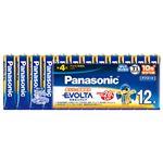(まとめ) パナソニック アルカリ乾電池EVOLTA 単3形 LR6EJ/12SW 1パック(12本) 【×10セット】