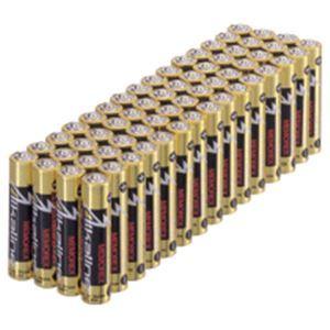 (まとめ) メモレックス・テレックス アルカリ乾電池単4形 LR3/1.5V60P/MC1 1パック(60本) 【×10セット】 - 拡大画像