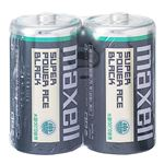 (まとめ) マクセル マンガン乾電池 BLACK単1形 R20PU(BN) 2P 1セット(20本:2本×10パック) 【×10セット】